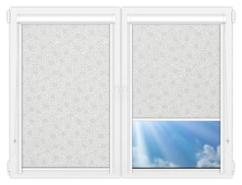 Рулонные кассетные шторы УНИ - Индра-грей на пластиковые окна