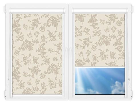 Рулонные кассетные шторы УНИ - Калифорния-1 на пластиковые окна