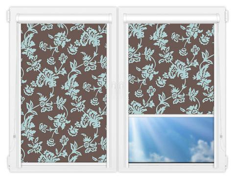 Рулонные кассетные шторы УНИ - Калифорния-4 на пластиковые окна