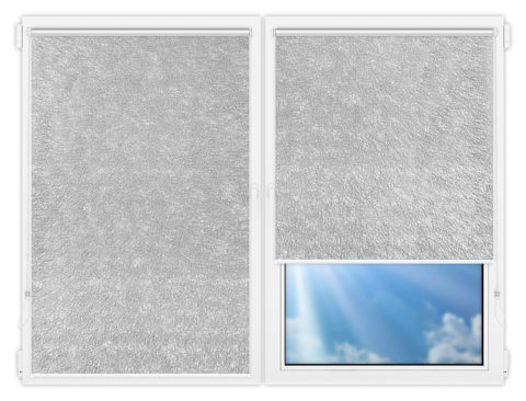 Рулонные шторы Мини - Карисма-сильвер на пластиковые окна