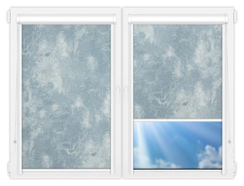 Рулонные кассетные шторы УНИ - Клаудиа-блу