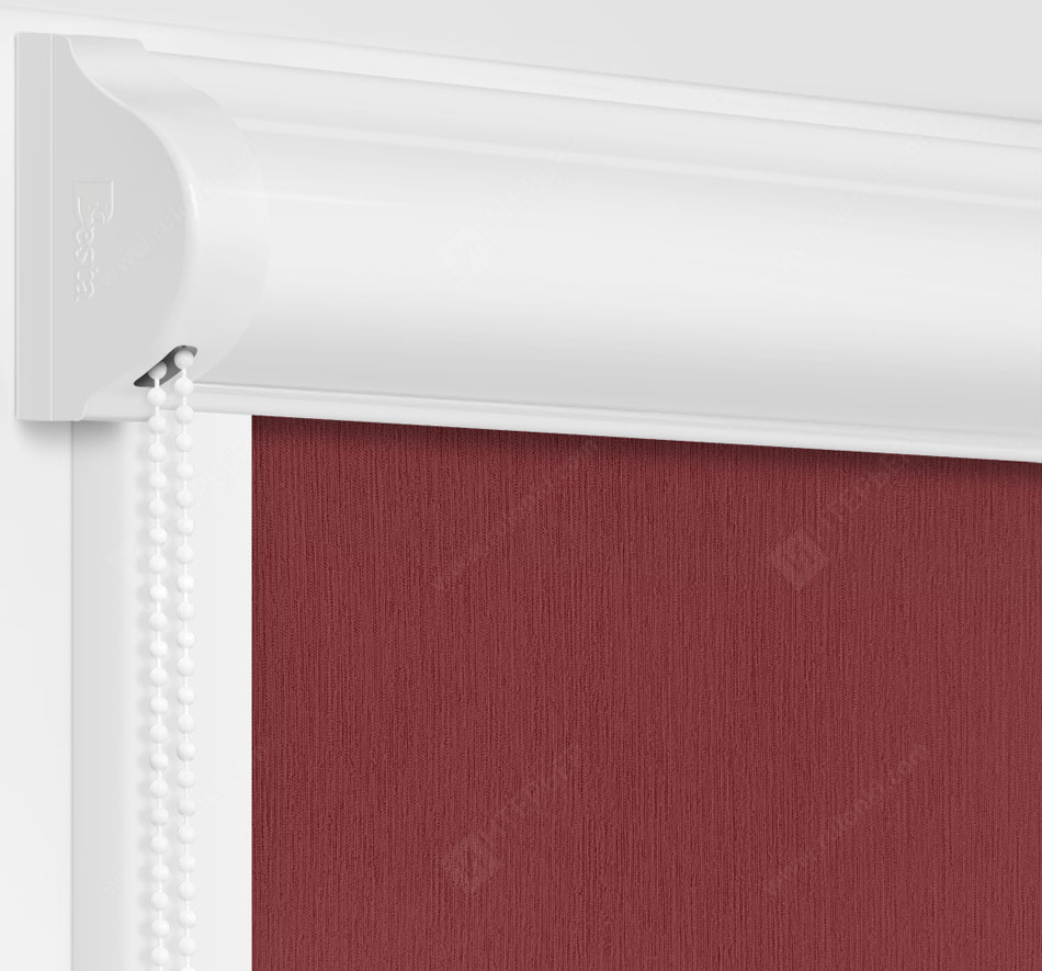 Рулонные кассетные шторы УНИ - Лусто бордовый