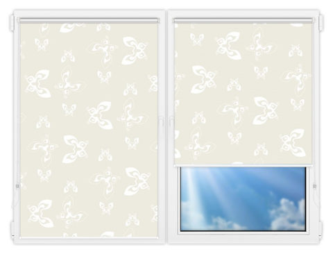 Рулонные шторы Мини - Махаон-бейж на пластиковые окна