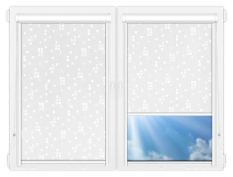 Рулонные кассетные шторы УНИ - Пазл-вайт