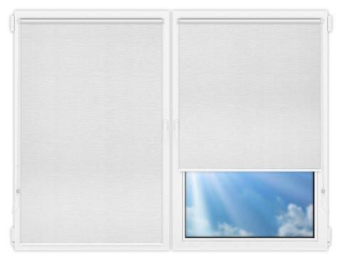 Рулонные шторы Мини - Раита-вайт на пластиковые окна