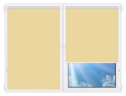 Рулонные шторы Мини - Аргентум-кремовый на пластиковые окна