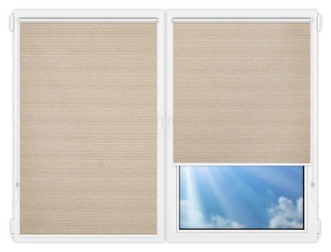 Рулонные шторы Мини - Маракеш-бейж на пластиковые окна