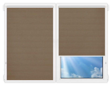 Рулонные шторы Мини - Маракеш-блэкаут-браун на пластиковые окна