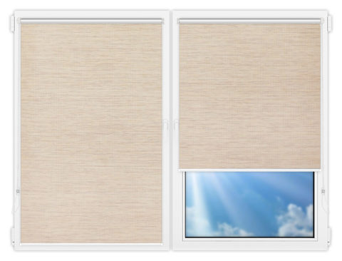 Рулонные шторы Мини - Шикатан-3 на пластиковые окна