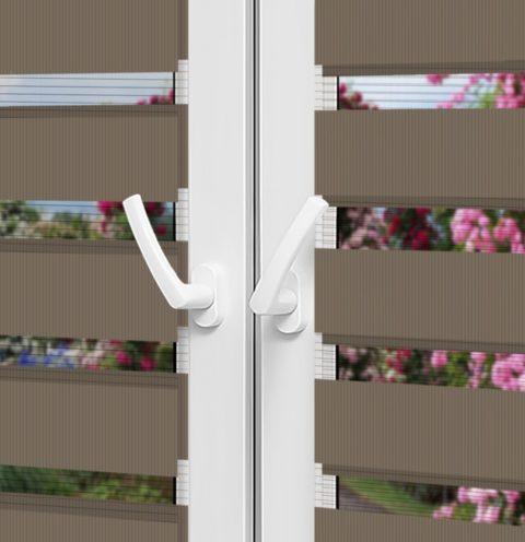 Рулонные шторы День-Ночь — Латина 1306 на пластиковые окна