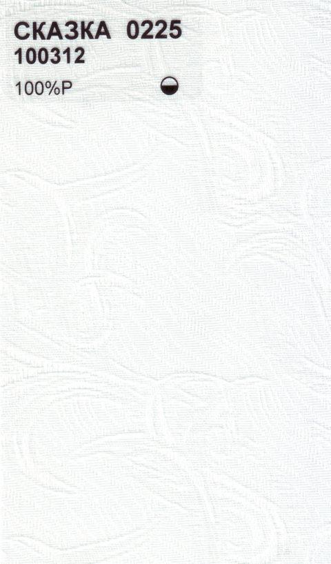 Вертикальные тканевые жалюзи Сказка белый