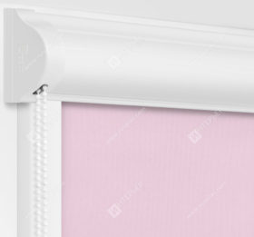 Рулонные кассетные шторы УНИ - Респект блэкаут розовый