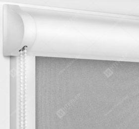 Рулонные кассетные шторы УНИ - Респект блэкаут светло-серый