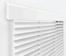 Жалюзи Изолайт 16 мм на пластиковые окна - цвет белый