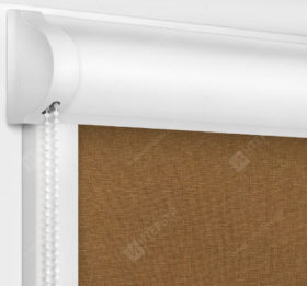 Рулонные кассетные шторы УНИ - Карина блэкаут коричневый