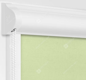 Рулонные кассетные шторы УНИ - Карина мятный