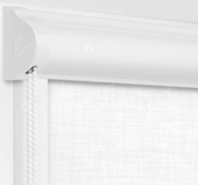 Рулонные кассетные шторы УНИ - Анже блэкаут белый